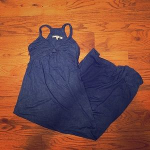 Max Studio Blue Maxi Dress Size Small